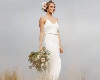 Bias cut wedding dress   Etsy