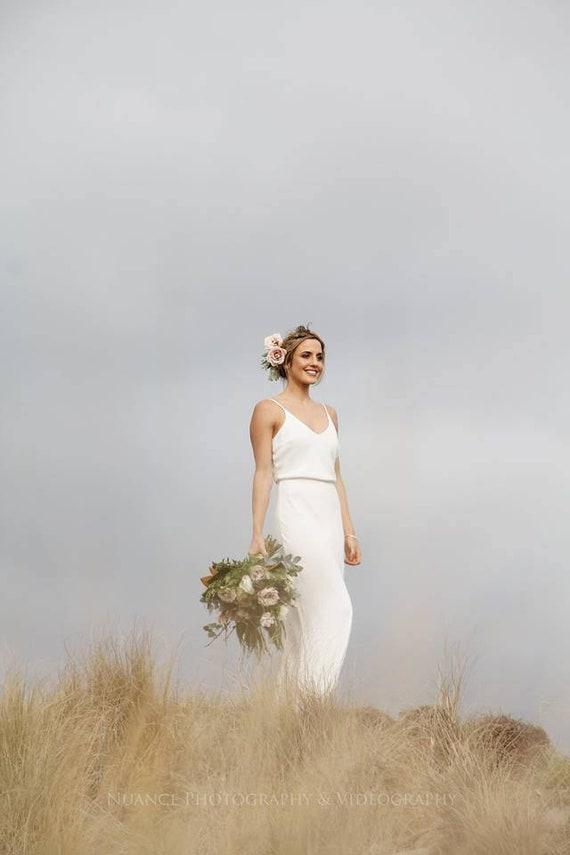 7ce64c7293e Elegant bias cut gown simple wedding gown reception dress