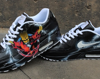 d2d0b8b8c30d3 Custom Painted Nike Air max 90 Thunderdome Techno Sneaker Art *UNIKAT* All  Sizes