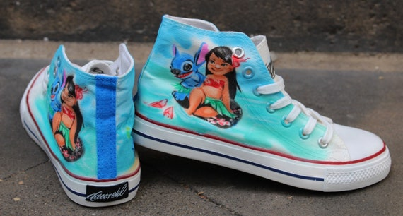 Designer Dac Crew airbrushed shoes sneaker canvas graffiti art style fashion art painting unique