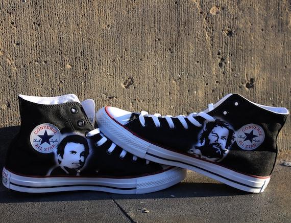 Airbrush converse allstar chucks bud spencer & terence hill handpainted art sneaker shoes schuhe UNIKAT