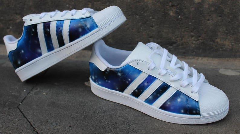 Azul Adidas Zapatos Púrpura Etsy Personalizado Superstar Galaxia vq1CxRwq