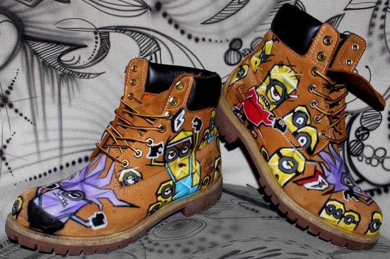 3d04d0f3dd16 Airbrush Timberland Boots Design custom graffiti Style Fashion