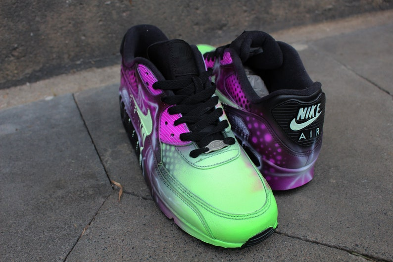 wholesale dealer ecffd 49139 Custom Nike Air Max 90 rose Style Art abstrait chaussures   Etsy