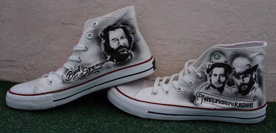 Airbrush Sneaker SpencerTerence Canvas Hill Bud Custom themedUNIQUE Dac Crew PkXuZiO