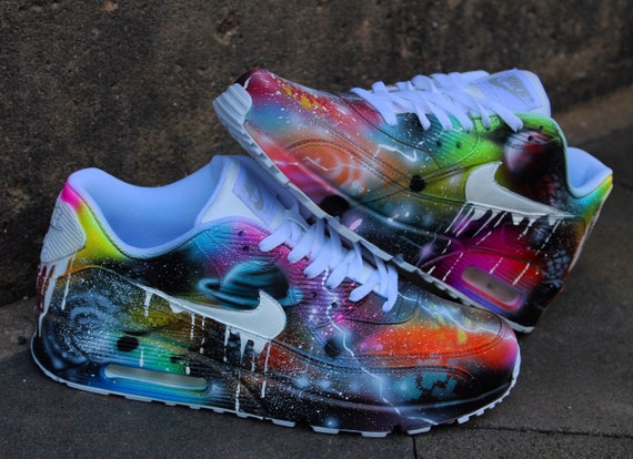 "Dac Crew Custom Nike Air Max 90 ""Neon Flash"" done with"