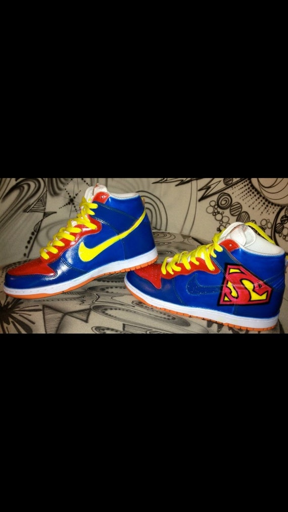 super man nike dunks