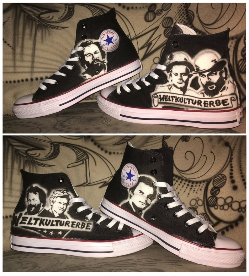 90fcf7491655 Airbrush Converse star Chucks Bud Spencer   Terence Hill