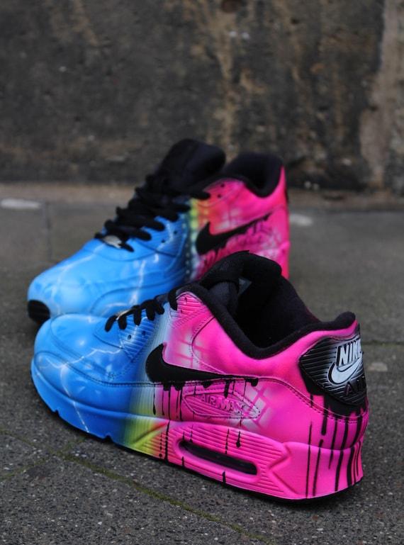 Custom painted Airbrush Nike Air Max 90