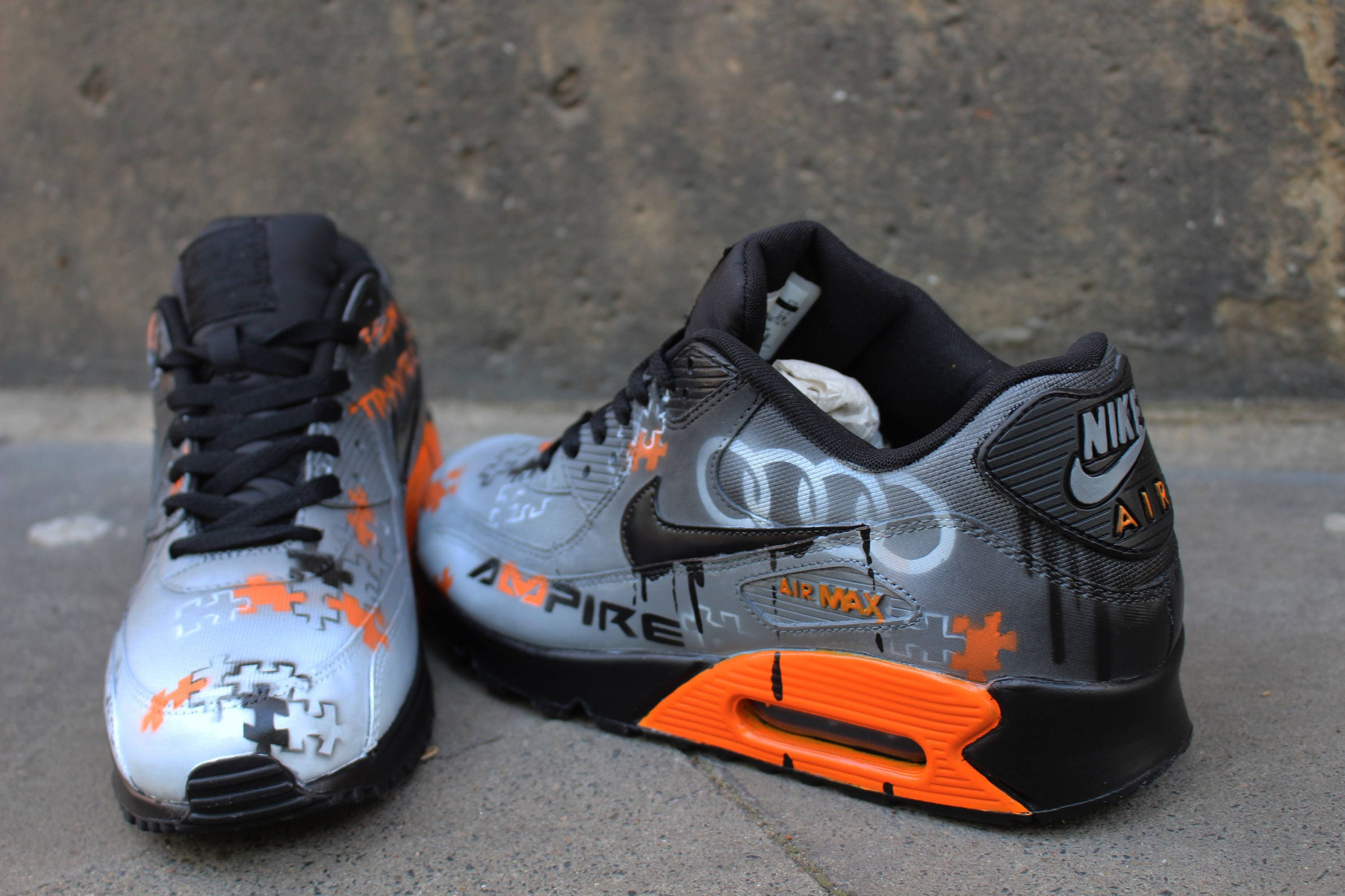 39dd41a3ced Custom painted Nike Air Max 90 Your individual | Etsy