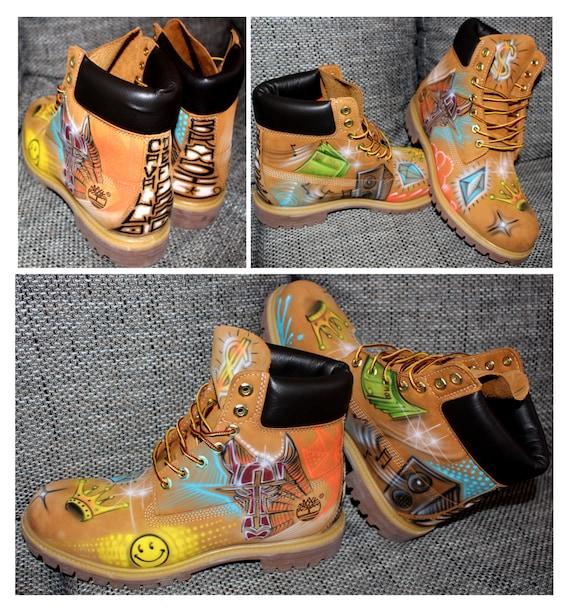 Airbrush Timberland Boots Design custom