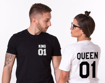 54ed7ec8e Couples Shirts, Matching couple shirts, King and Queen, King and Queen Couples  Shirt, King and queen shirts, UNISEX, Price per item