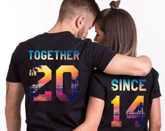 Anniversary Gifts, Together Since Shirts, Anniversary Gift Ideas, Matching Shirts, Couple Shirts, Together Since, UNISEX, Price per shirt