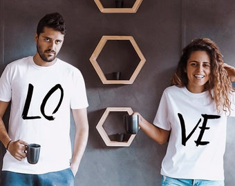 Couples outfits, Couple outfits, LOVE Couples shirts, Outfit for Couples, LOVE Matching Couples t-shirts, UNISEX, Price per item