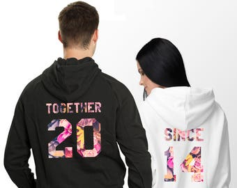 af1c5e93 Together Since couples hoodies, Couples hoodie, Couple Hoodies, Couple  Hoodies, Together since hoodies, Matching Hoodies, Price per item