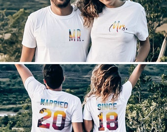 fc4eb3f5d5 Mr Mrs Anniversary Gift, Married Since Shirts, Anniversary Gift for Couples,  Custom Anniversary Gift, Price per item