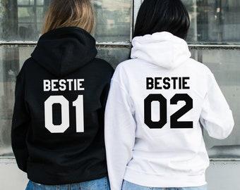 035efd379401 Bestie 01 Bestie 02 Hoodies, Bestie Hoodies, Bestie Sweater, BFF Hoodies,  Best Friend Sweater,Best Friend Hoodies,Bestie Gift,Price per item