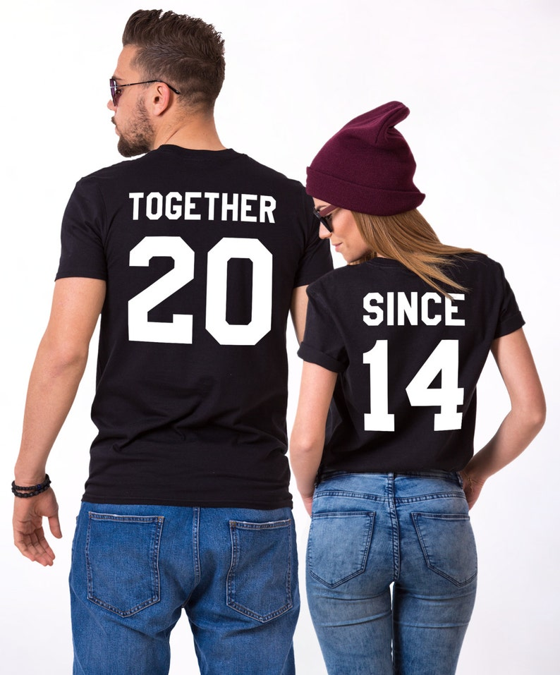 T-shirts and jeans are what your lover wears on a daily basis? The personalized together since T-shirt will entirely make her impressed with your fashion taste. Let this cute T-shirt make your anniversary out of the world.