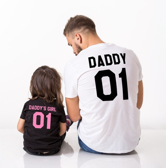 Daddy Daddys Girl Father Daughter Matching Shirts Daddy Etsy