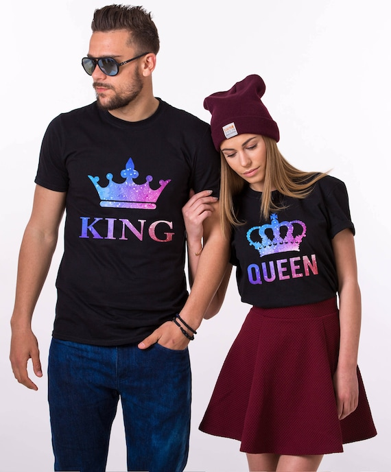 King Queen T-Shirts, Galaxy Shirts, Galaxy King Shirt, Galaxy Queen Shirt, Galaxy Collection, Universe Shirts, Galaxy Shirts, UNISEX