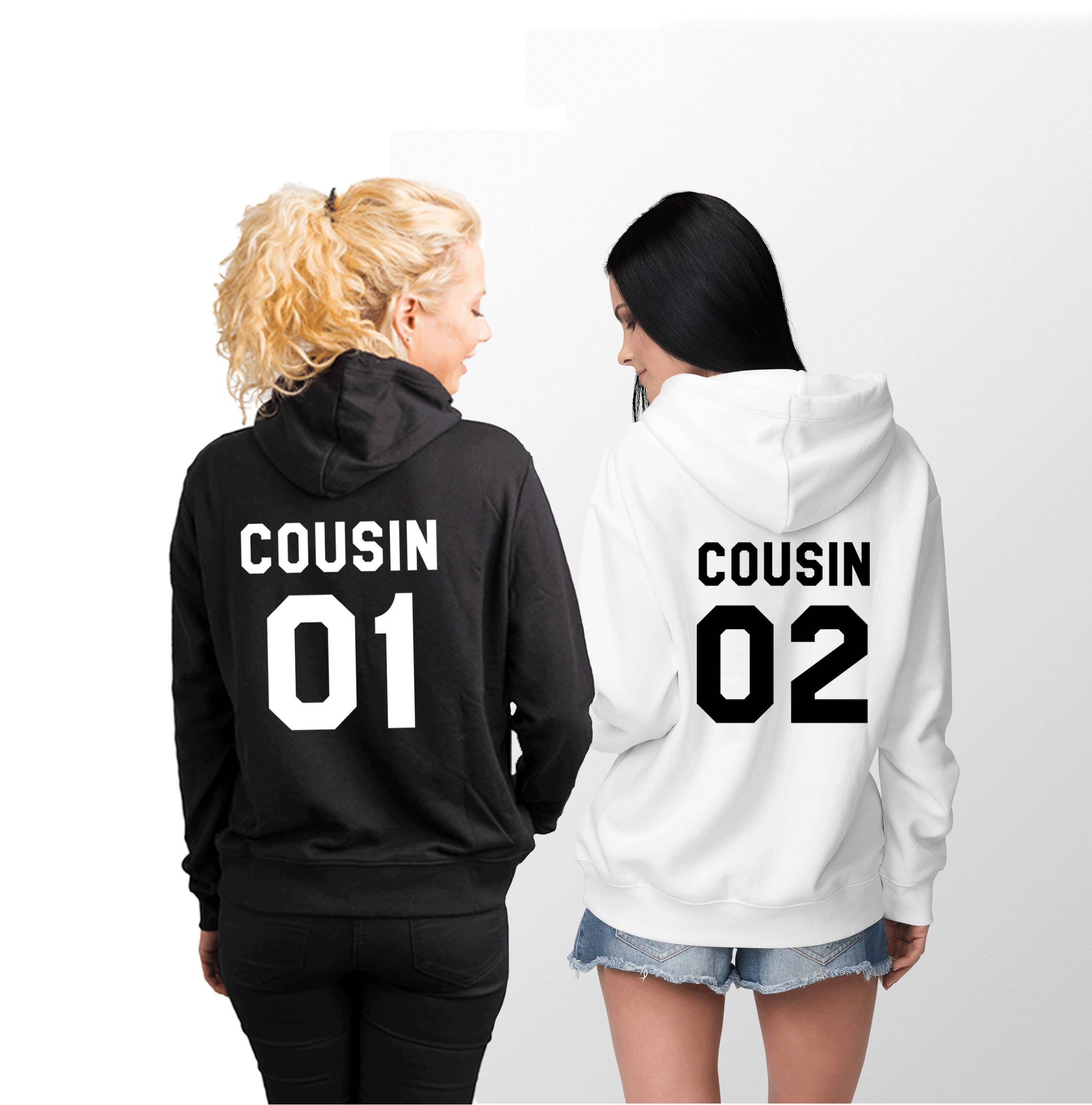 Cousin 01 Cousin 02 Hoodies passende Hoodies Familie | Etsy