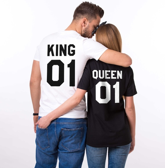 king and queen shirts king 01 queen 01 couples t shirt set etsy
