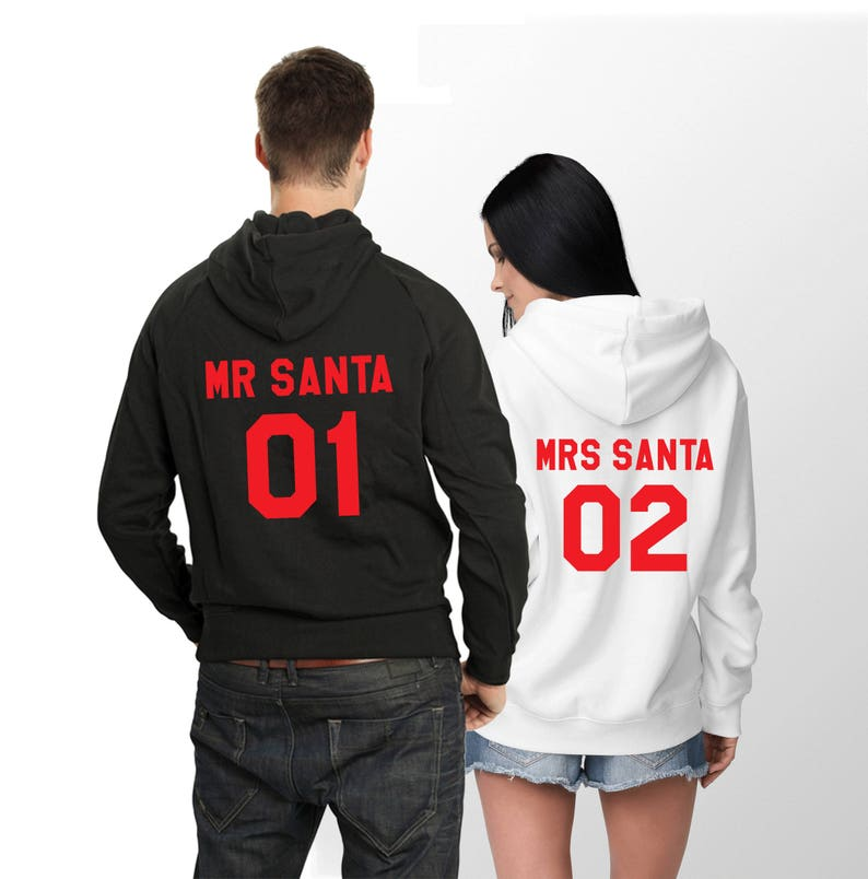 Christmas Hoodies.Christmas Hoodies Mr Santa Mrs Santa Hoodies Couples Christmas Hoodies Mr Santa Mrs Santa Christmas Hoodies Price Per Item