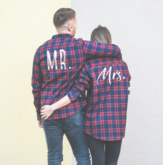 Mr Shirts and Plaid Mrs Mrs Matching UNISEX Plaid Shirt Shirts Shirts Couple Red Plaid Mr Shirts Shirts Plaid Plaid Plaid rxrAzRnZ