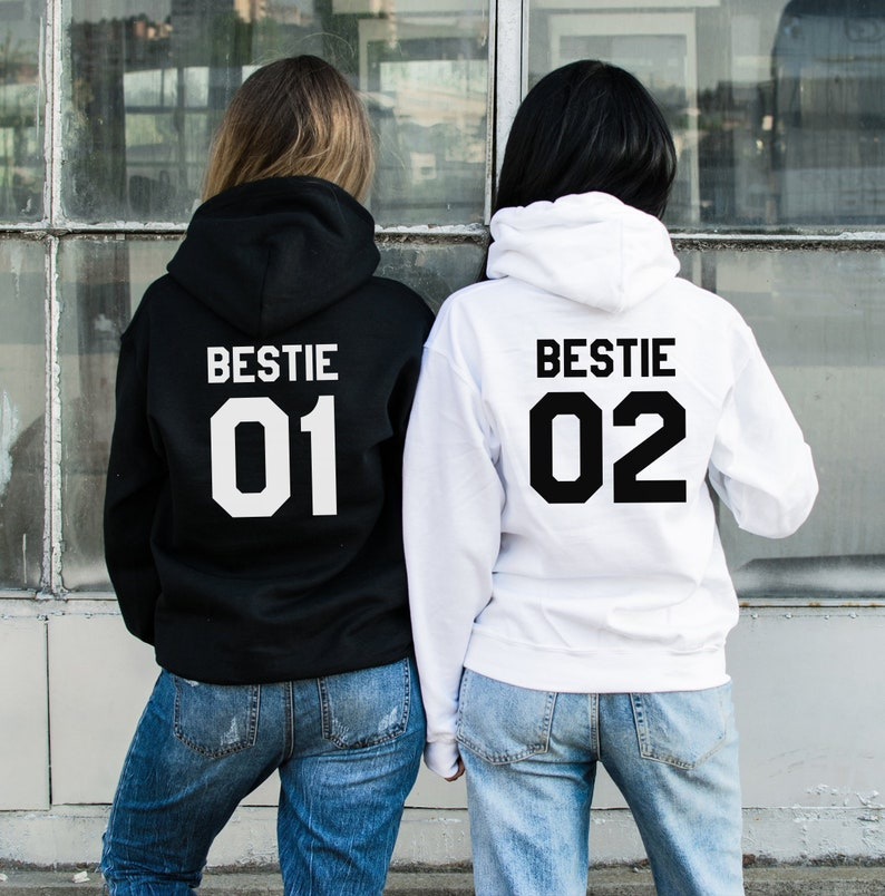Bestie 01 Bestie 02 Hoodies Bestie Hoodies Bestie Sweater image 0