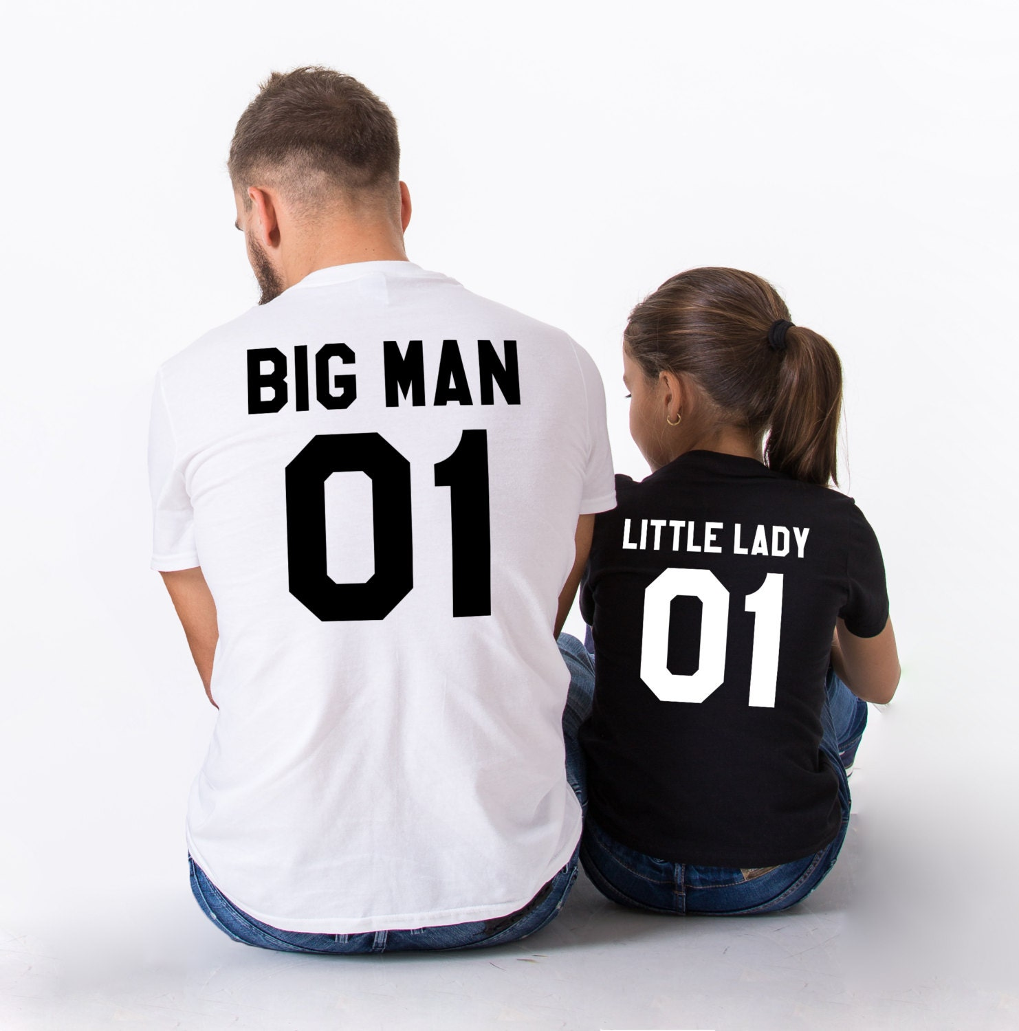 ad2922dedc492 Big man little lady father daughter matching shirts, Big man little lady  father daughter matching T-shirts,100% cotton,UNISEX,Price per item