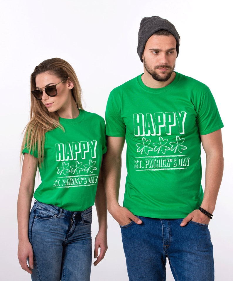 c4009c4ee Happy St Patricks Day Irish Couples Shirts Clover shirt   Etsy