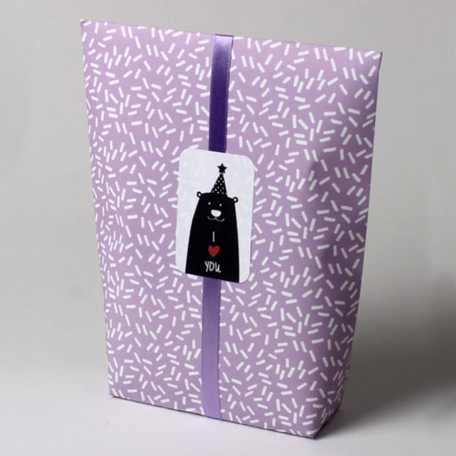 5 x Paper bags / Lavender bags / Light purple bags / Kawaii bags /