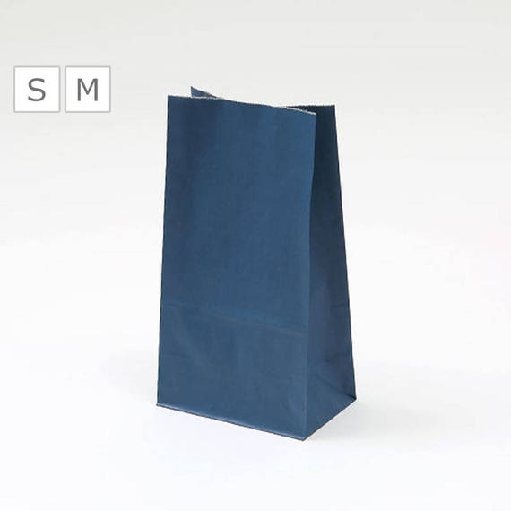20 x Paper Bags / 2 Size - Small or Medium / Purple Blue / Wedding Gift / Handmade Bags / Sandwich Wrap / Reusable