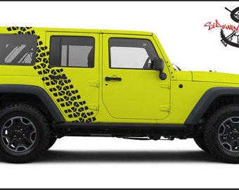 "12.5"" WIDE TIRE TREAD  Vinyl Vehicle Decal"