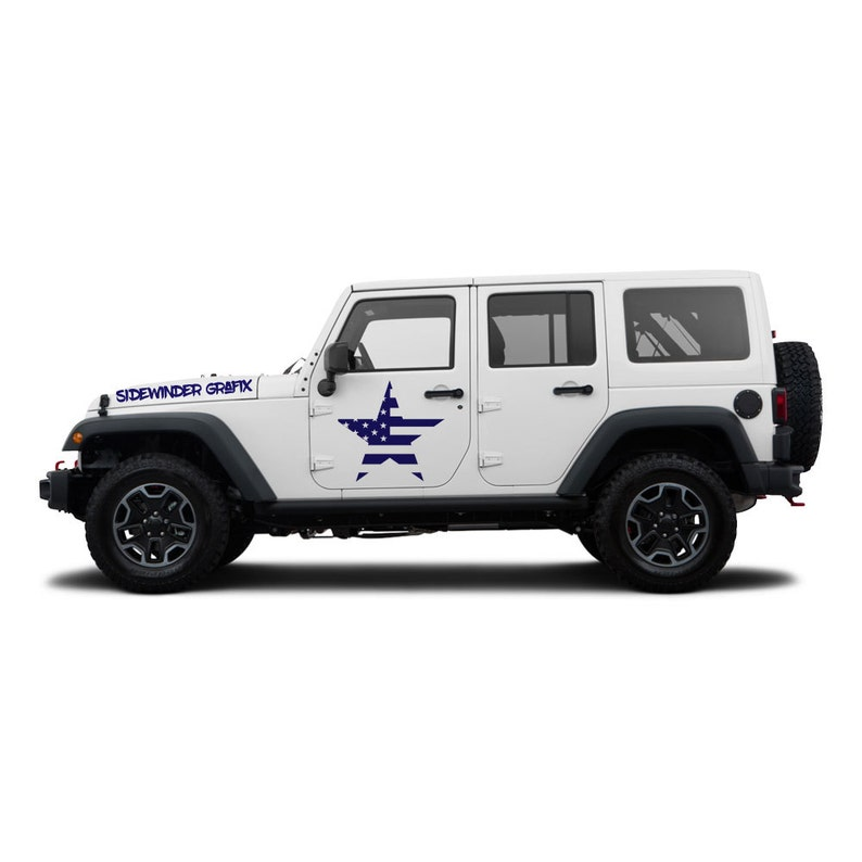 American Flag Army Military Star Jeep Wrangler Etsy