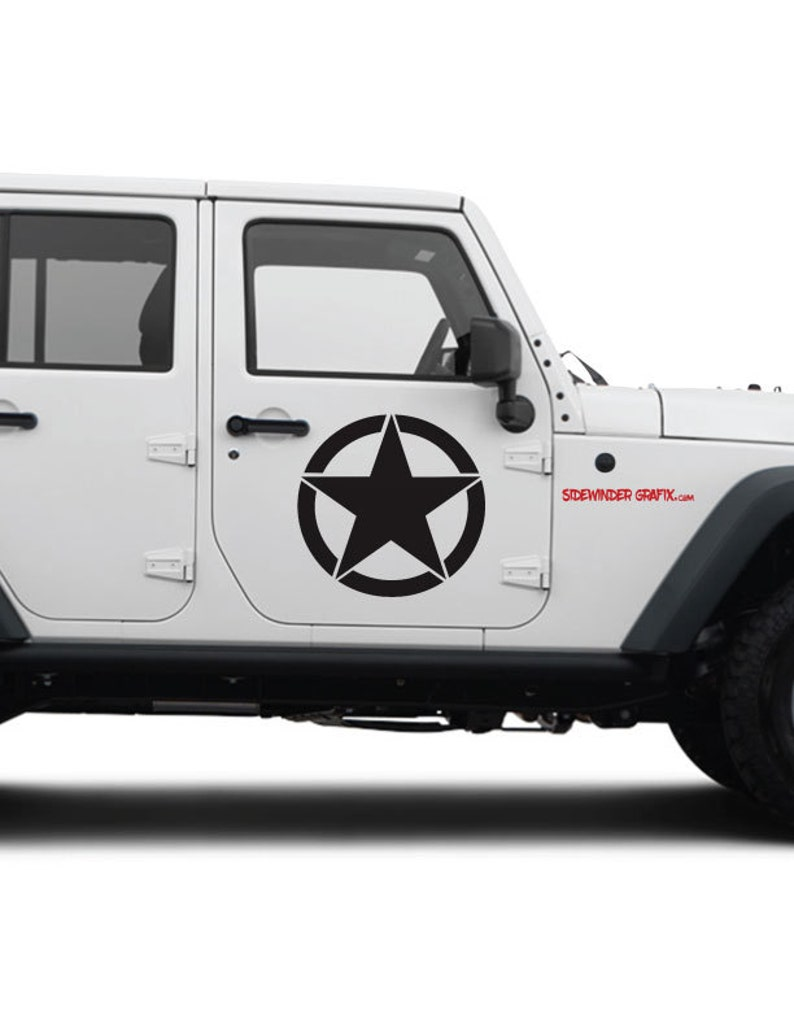 Jeep Wrangler Military Decal Oscar Mike Army Star Etsy