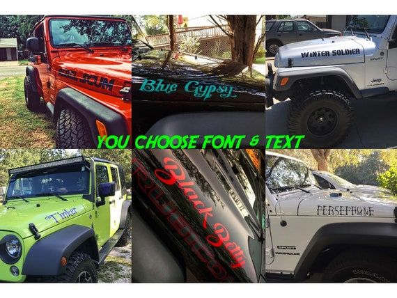 Jeep Wrangler USPS US Mail style hood decal set