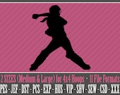Female Girl Softball Catcher - Machine Embroidery Files - 2 Sizes - 4x4 Hoop - 11 Popular Formats - INSTANT DOWNLOAD
