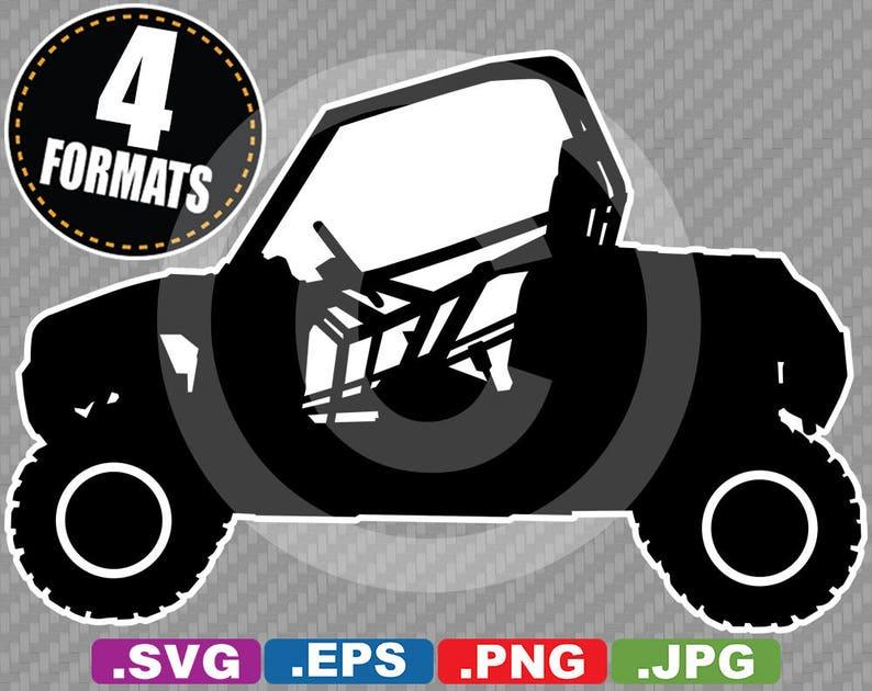 Off-Road ATV / UTV Clip Art Image - SVG cutting file Plus eps (vector),  jpg, & png - Die Cut Sticker File