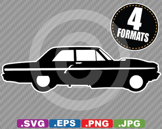 1964 Classic Muscle Car Clip Art Image Svg Cutting File Plus Etsy