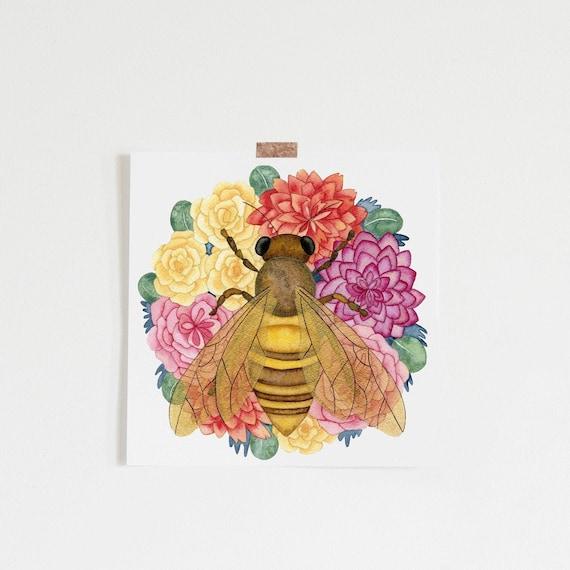 BEE HAPPY Beekeeper Vinyl Decal Sticker Beekeeping Honey Car Window Wall Sign