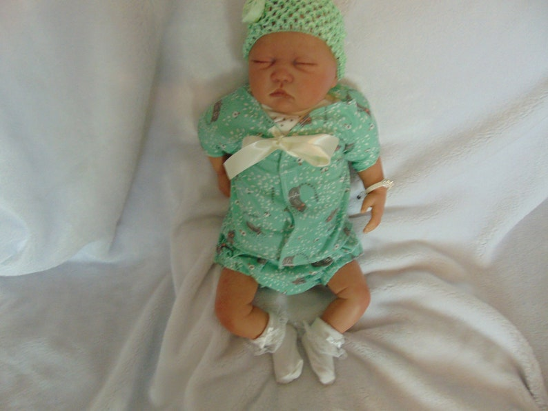 Baby diaper dress set