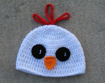 Crochet Chicken Hat  Rooster Hat  Infant Chicken Photo Prop  Baby Easter Hat   Barnyard Animal Beaine 958dcdcebbd