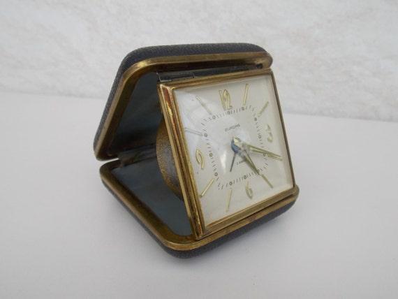 Horloge, Allemagne horloge, horloge mécanique, réveil, horloge Europa, idée cadeau, décoration, horloge de table, horloge rétro, pendulette de voyage