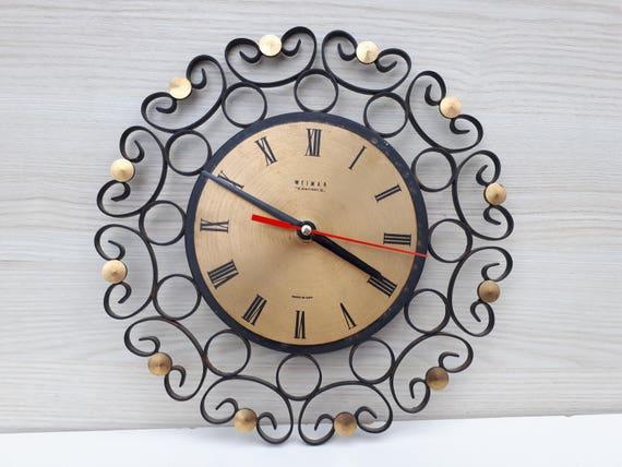 Metall Wanduhr Deutschland Uhr Kuchenuhr Coole Uhr Etsy