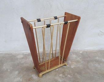 Vintage Umbrealla holder, home decor, cool decor,Made in Germany wood holder, umbrella holder, wood, gift idea, modernist umbrella stand