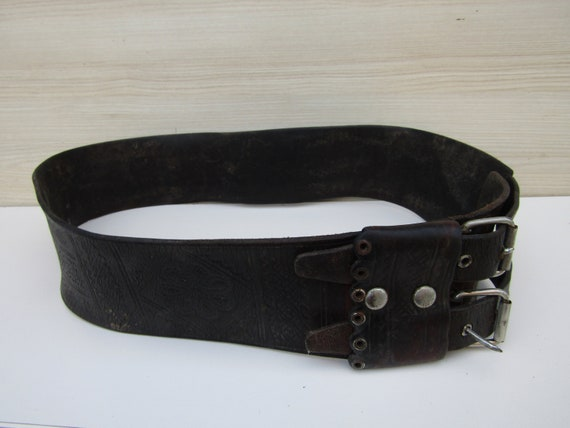 Traditional belt, dance belt, vinatge belt, leathe