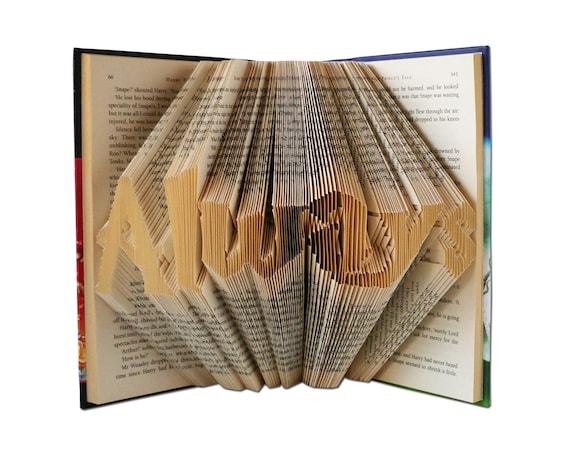 Harry Potter Always Folded Book Art Harry Potter Gift Harry Etsy