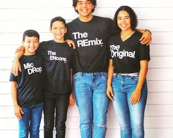 8073d920 Matching Family Shirts   Matching Family shirts   Set of 3 Matching Family  Outfits   The Original   The Remix   Mens Clothing   Dad Gift Set