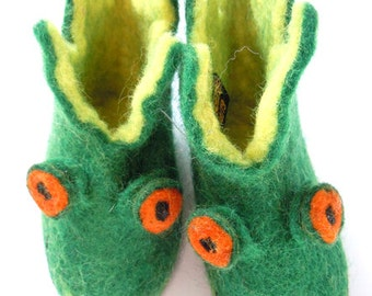 c7015e666c7 Tiger Felt slippers for children and adults Design in